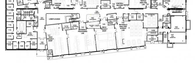 Partial floor plan of the Technology Building