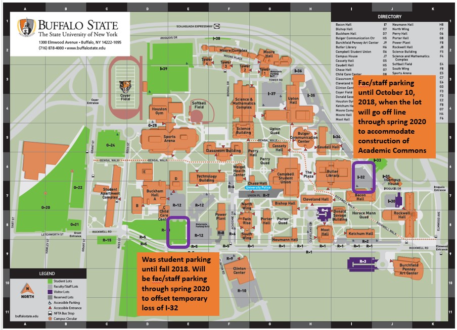 buff state campus map Construction On Campus Facilities Construction Maintenance buff state campus map