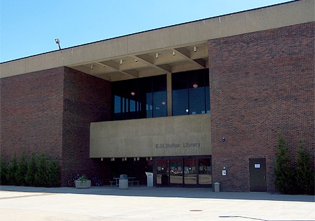 Butler Library main entrance